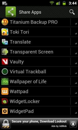 Inviare app Android