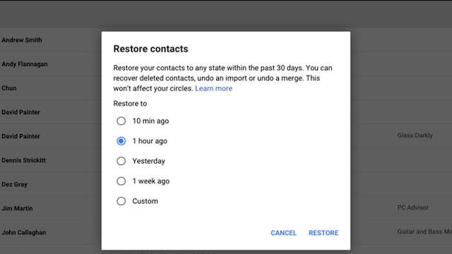 Recuperare Contatti Android