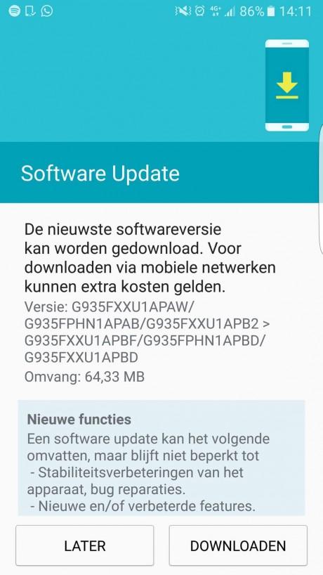Aggiornamento Galaxy S7 Edge
