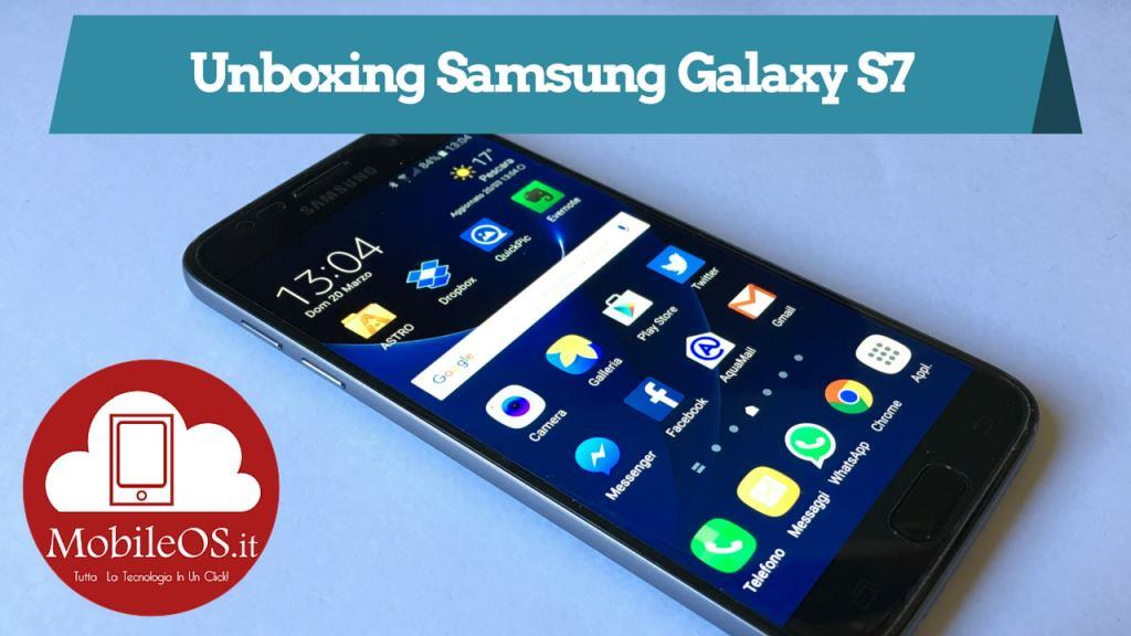 Video Unboxing Samsung Galaxy S7