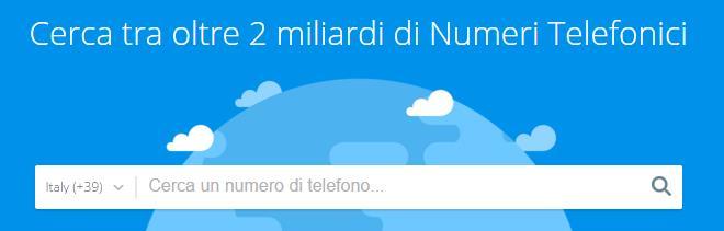 Cercare un numero di cellulare