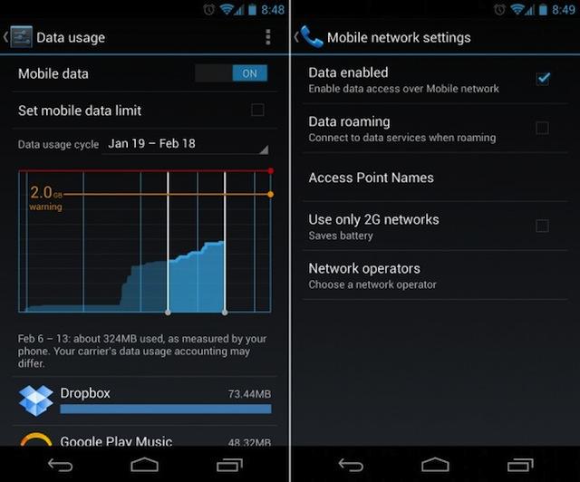 Creare Avvisi Consumo Credito Dati Android