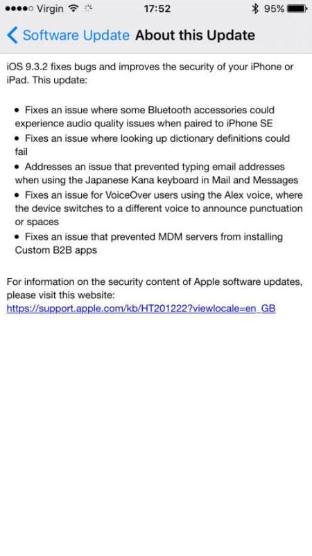 Apple-iOS-9.3.2-changelog IOS 9.3.2