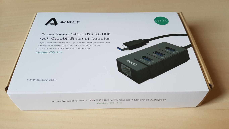 Prova AUKEY Hub USB 3.0 con 3 Porte USB 3.0 1 Porta Gigabit Ethernet 2016-05-17 14.03.57
