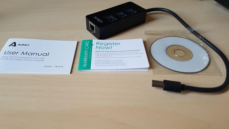 Prova AUKEY Hub USB 3.0 con 3 Porte USB 3.0 1 Porta Gigabit Ethernet 2016-05-17 14.05.42-1