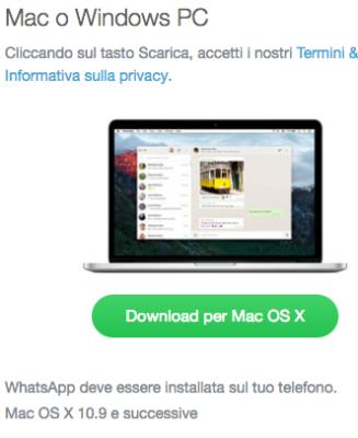 Download di whatsapp pc