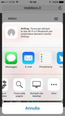 versione desktop ios 9