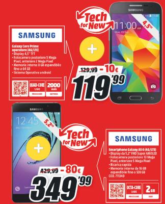 Galaxy Core Prime e Galaxy A5