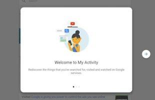 Usare Google My Activity