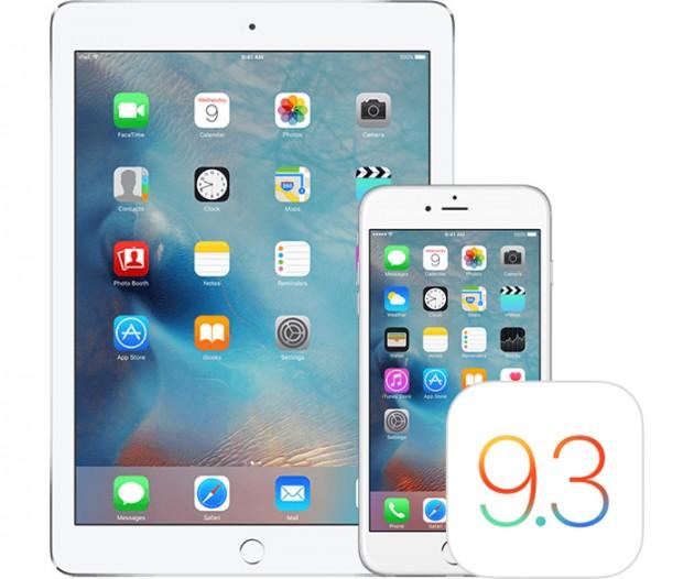Aggiornamento iOS 9.3.5