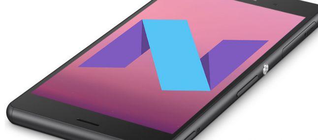 Aggiornamento smartphone Sony Android Nougat 7.0