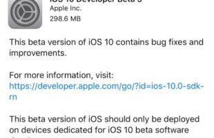 Beta 5 iOS 10