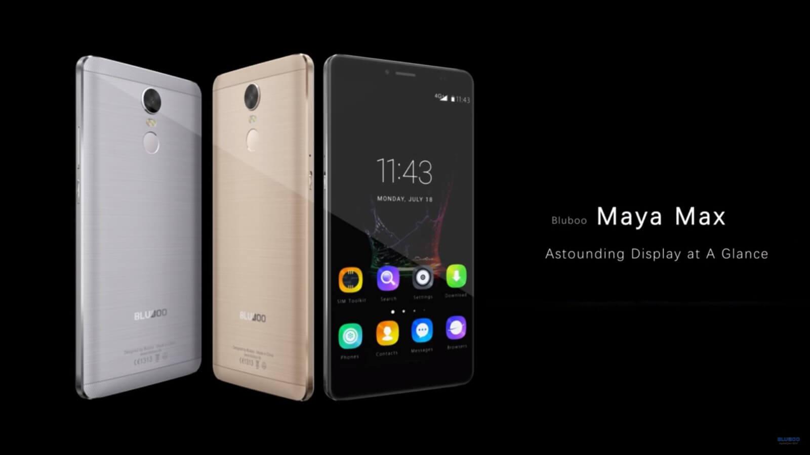 Promozione Smartphone BLUBOO Maya Max 4G su TomTop! Non perdetevela