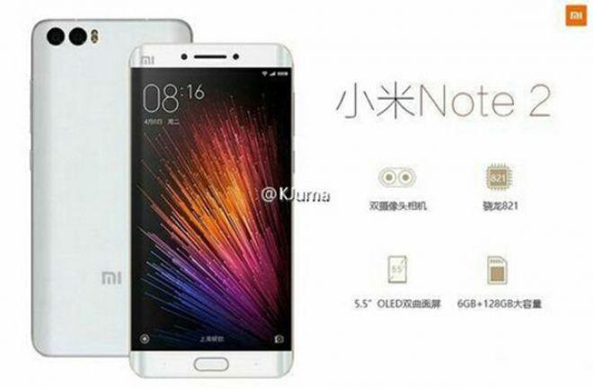 Render Xiaomi Mi Note 2