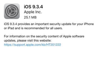 iOS 9.3.4