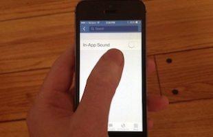 Disattivare Suoni App Facebook