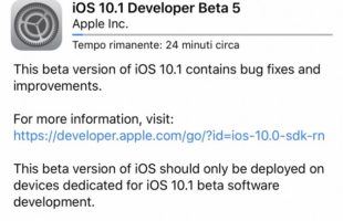 Apple iOS 10.1 beta 5