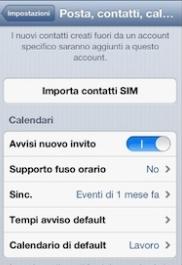 contatti iphone