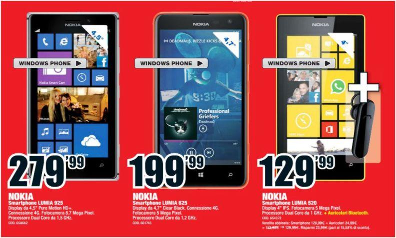 Smartphone Nokia in offerta: Mediaworld e Unieuro