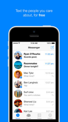 Facebook messenger per ios