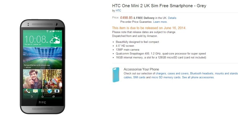 Vendita HTC One M8 Mini