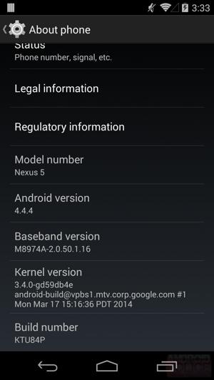 Aggiornamento Android 4.4.4