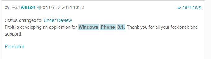 Annuncio Fit sviluppo app Windows Phone 8.1