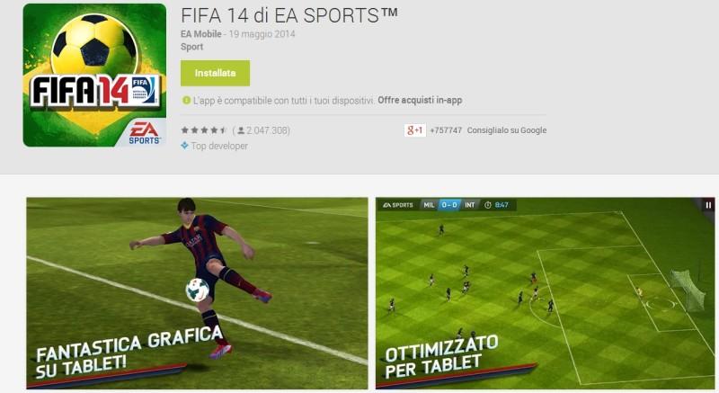 Giochi Android Mondiali di Calcio Brasile 2014