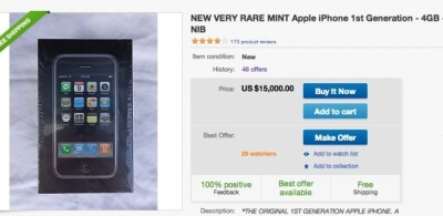 Apple iPhone original all'asta su eBay per 15,000 $