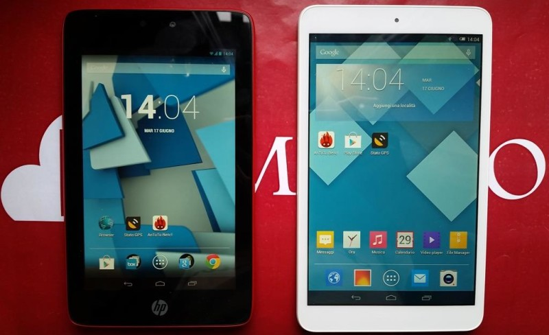 Alcatel POP 8 VS HP Slate 7 HD