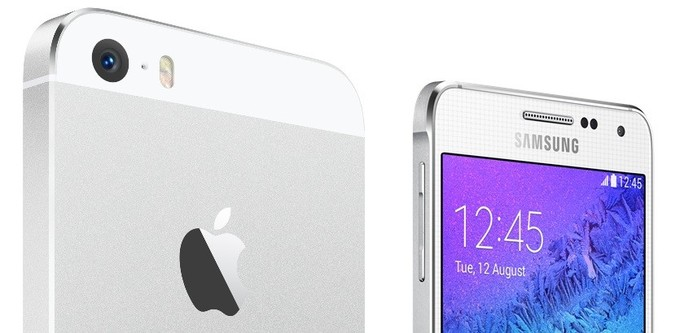 Samsung Galaxy Alpha VS Apple iPhone 5S