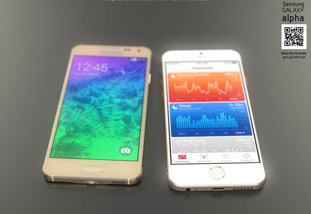 iPhone 6 VS Samsung Galaxy Alpha 002