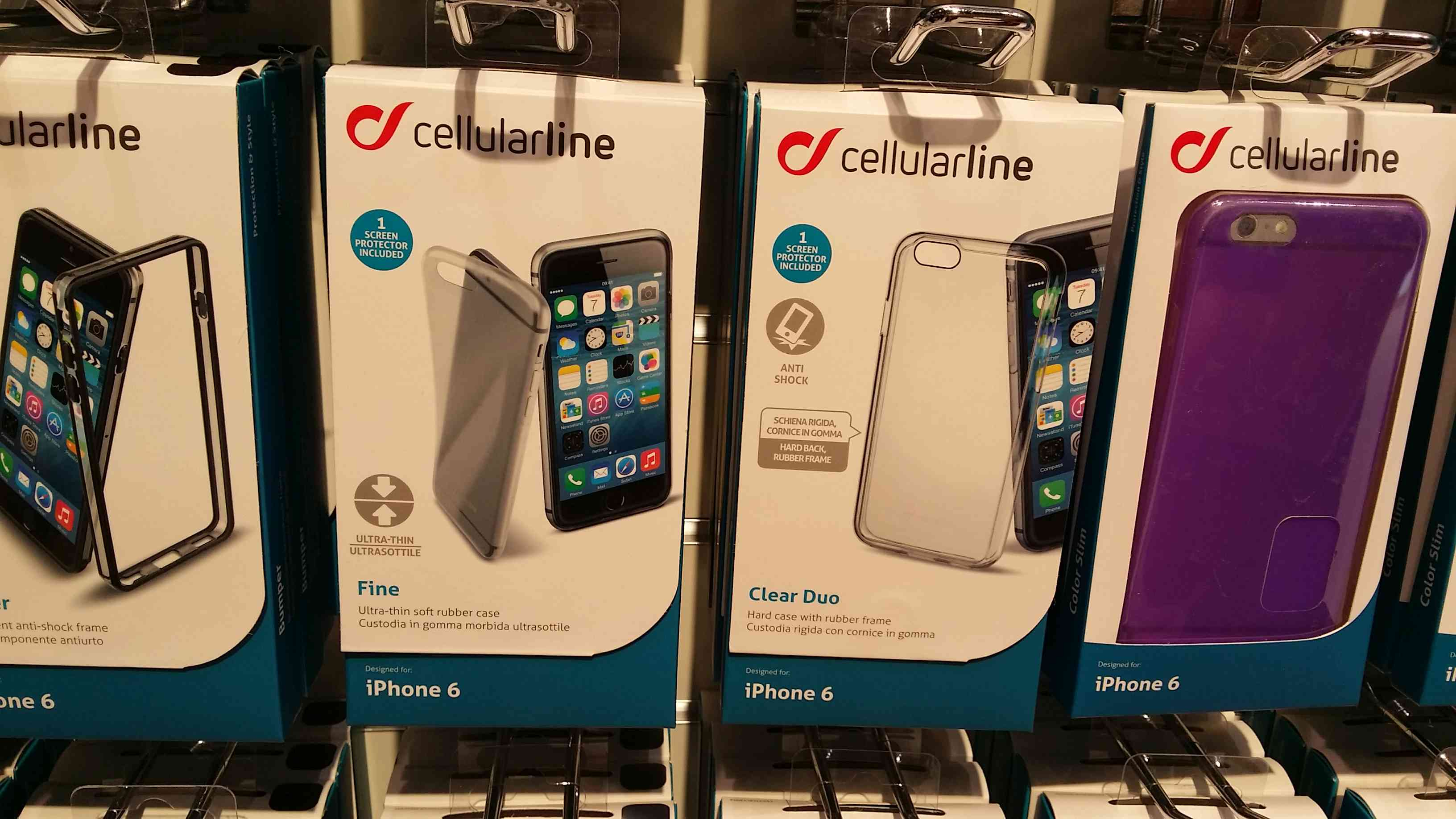custodia iphone 6 cellular line trasparente
