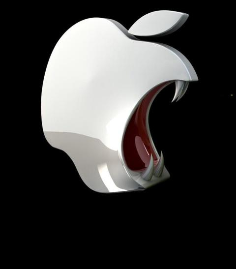 Apple-Android-Ios-Fangs-Evil-Apple