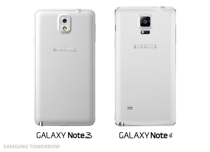 Design Samsung Galaxy Note 4.