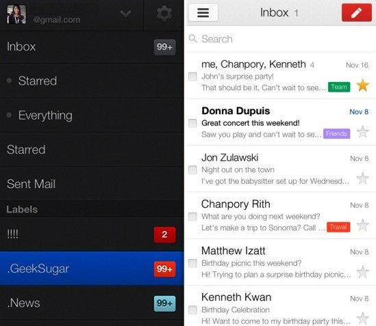 Nuova App Gmail