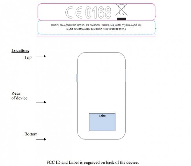 Samsung Galaxy A3 Dual Sim Certificato Dalla FCC