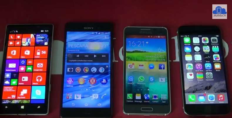 iPhone 6 VS Samsung Galaxy Alpha VS Nokia Lumia 930 VS Sony Xperia Z3