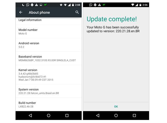 Aggiornamento Motorola Moto G