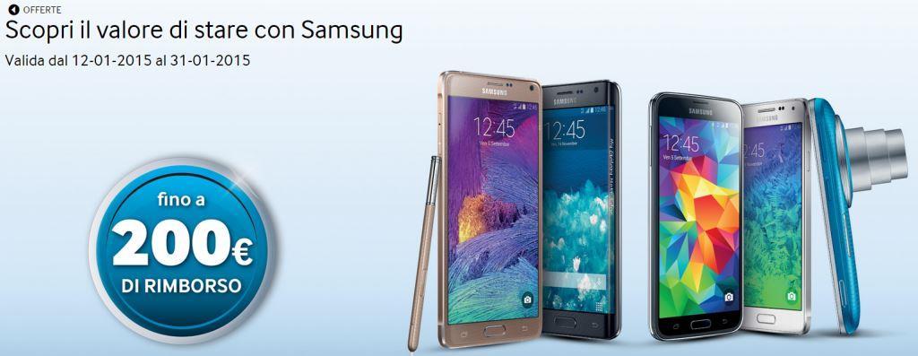 Promozione Samsung Galaxy 200€