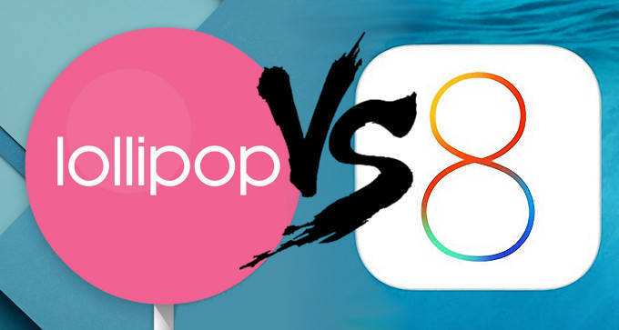Android VS iOS Android Vs Lollipop