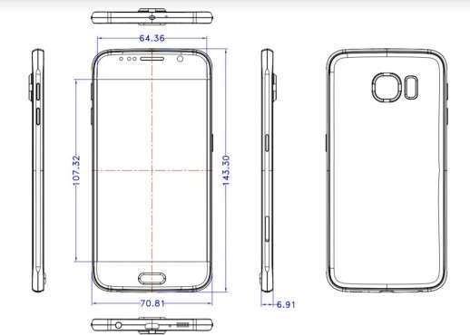 Dimensioni Samsung Galaxy S6