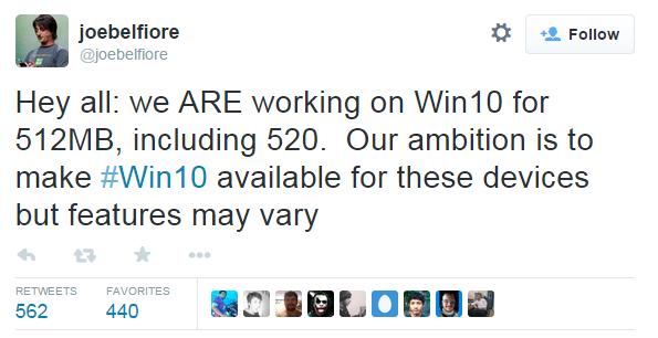 Aggiornamento Nokia Lumia 520 a Windows 10