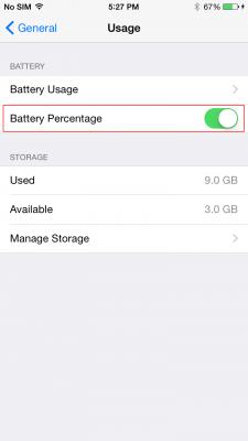 Percentuale Batteria iPhone 6 (2)