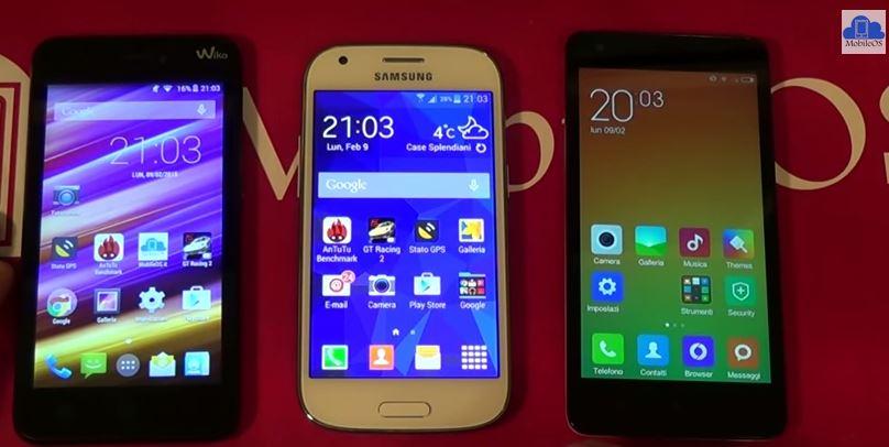 Samsung Galaxy Ace 4 VS Xiaomi Redmi 2 VS Wiko Jimmy