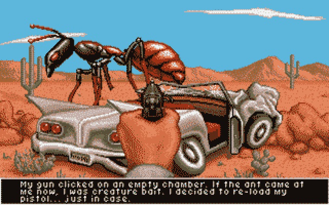 It-Came-From-The-Desert-Amiga-Cinemaware-1989-giant-ant-shooter-car