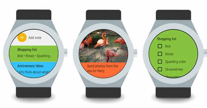 Google Keep per Android Wear