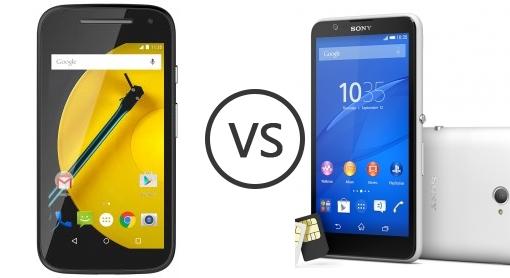 Motorola Moto E 2015 VS Sony Xperia E4 Dual