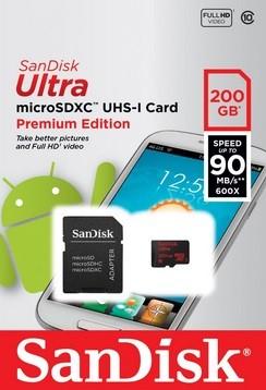 Scheda Micro SD 200 GB SanDisk