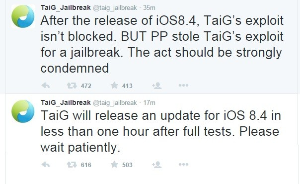 taig Jailbreak iOS 8.4 su iPhone, iPad e iPod touch